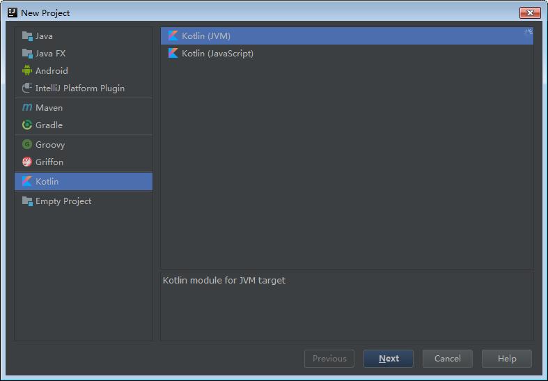 创建个Kotlin项目